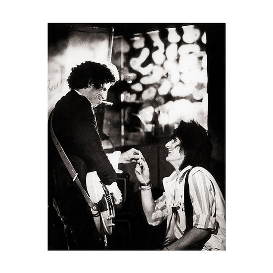Keith Richards & Ron Wood print - 20x16 Limited Edition Giclee