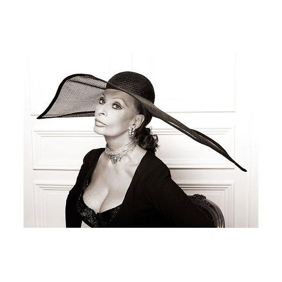 Sophia Loren hat print - 20x16 Limited Edition Giclee