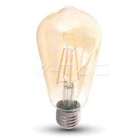 Lampadina E27 FILAMENTO LED AMBRATA Disponibile da 6W Luce calda