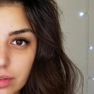 Eyelash extensions and Brow wax