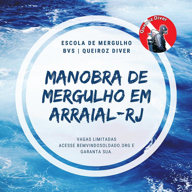 MANOBRA DE MERGULHO EM ARRAIAL DO CABO-RJ