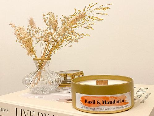 Basil & Mandarin geurkaars