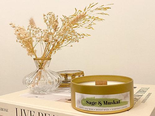 Sage & Muskat geurkaars