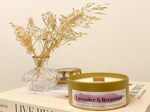 Lavender & Bergamot geurkaars