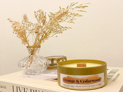 Orange & Cedarwood geurkaars