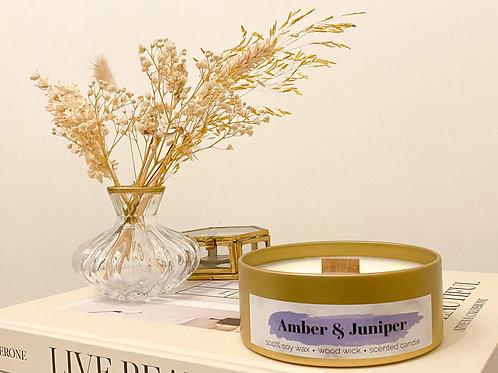 Amber & Juniper geurkaars