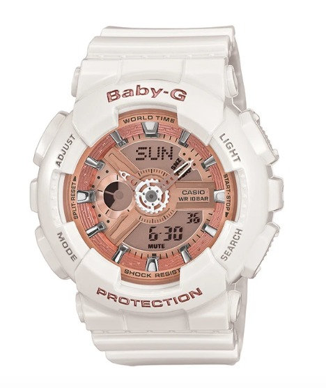 Baby-G BA-110-7A1 White/Rose Gold