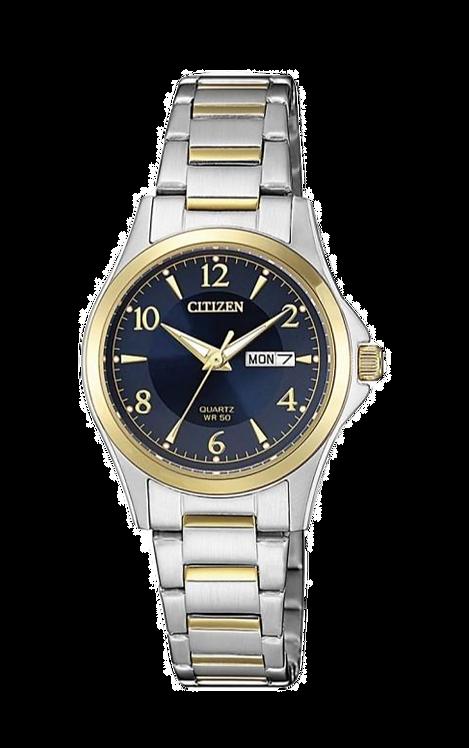 Citizen EQ0595-55L Silver/Gold/Navy