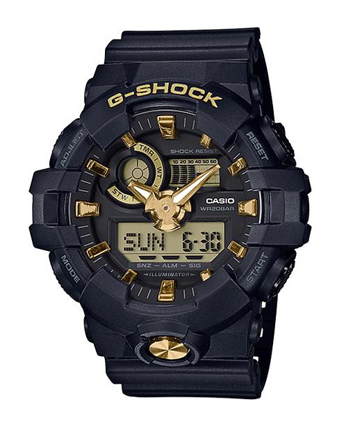 G-Shock GA-710B-1A9 Black/Gold