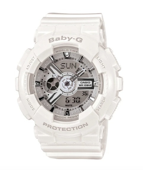 Baby-G BA-110-7A3 White/Silver