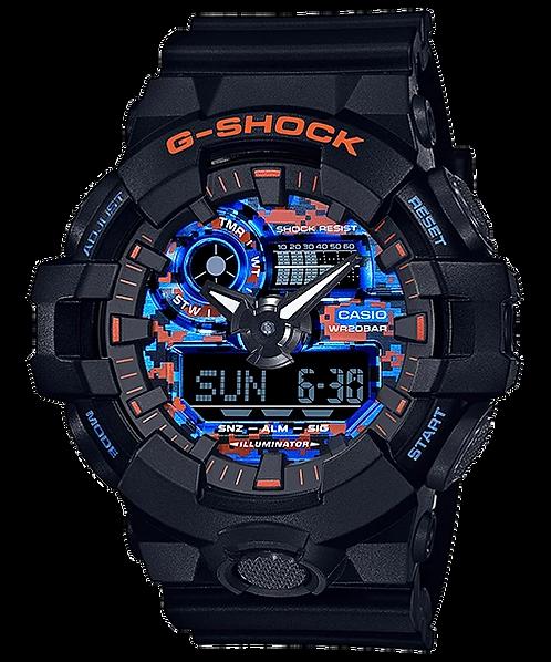 G-Shock GA-700CT-1A Black/Orange/Blue
