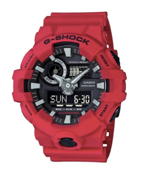 G-Shock GA-700-4A Red/Black