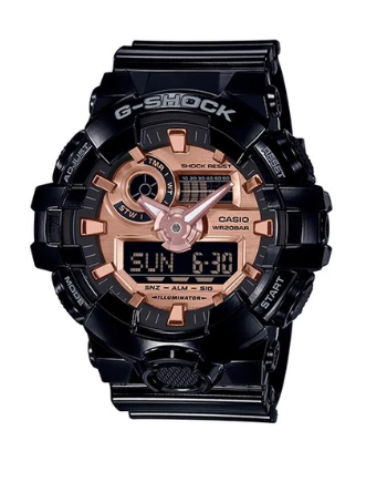 G-Shock GA700MMC-1A Black/Rose Gold