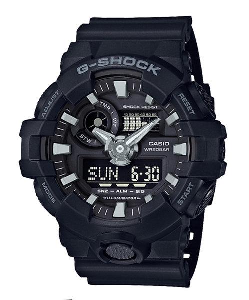 G-Shock GA-700-1B Black/Silver