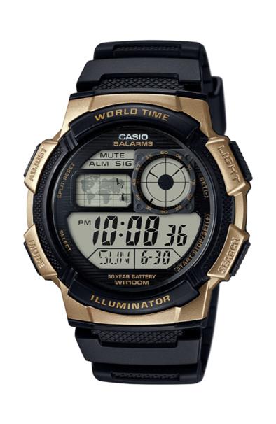 Casio AE1000W-1A3 Black/Gold
