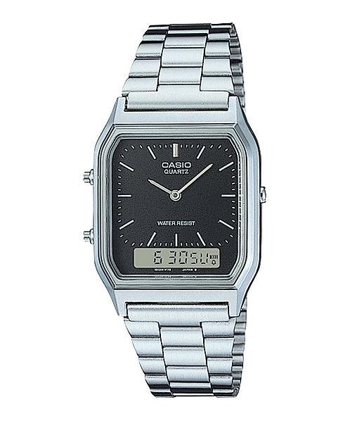 Casio AQ-230A-1D Black/Silver