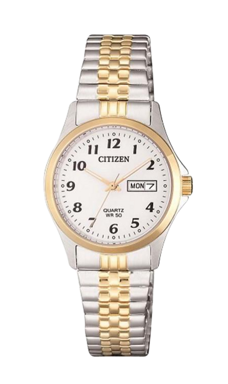 Citizen EQ2004-95A Silver/Gold/White