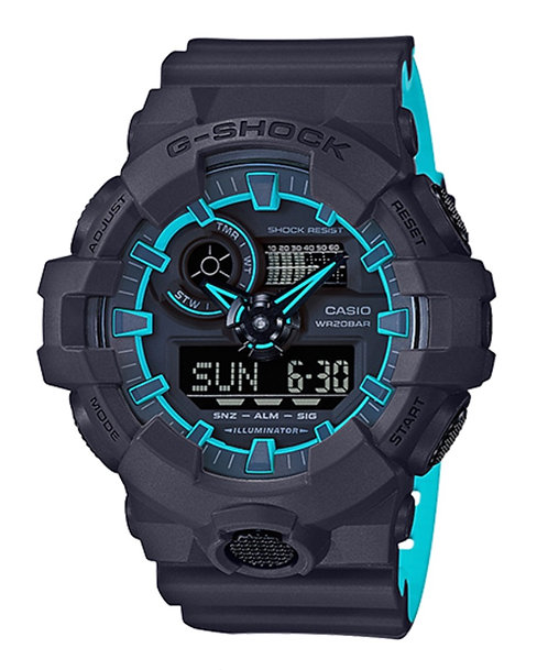 G-Shock GA700SE-1A2 Black/Blue
