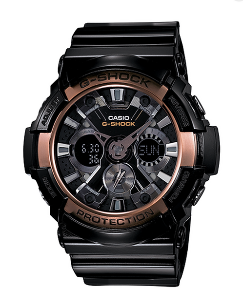 G-Shock GA-200RG-1A Black/Rose Gold