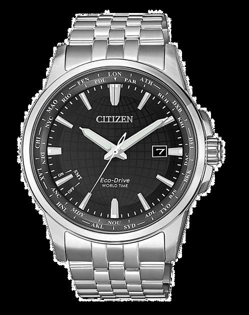 Citizen Eco-Drive World Time BX1001-89E Silver/Black