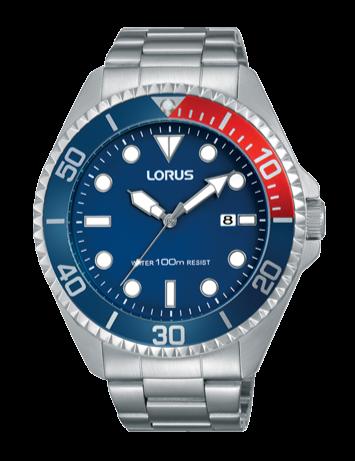 Lorus RH941GX-9 Silver/Blue/Red