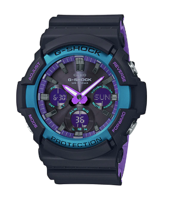 G-Shock GAS-100BL-1A Black/Purple/Blue