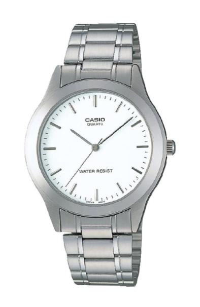 Casio MTP1128A-7A Silver/White