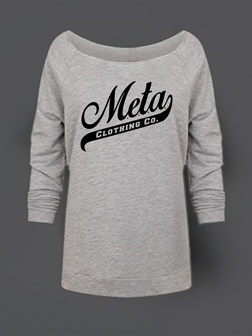 Wide Neck - Heather Grey