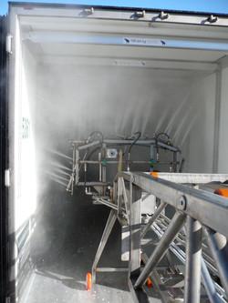 Wasinstallatie voor vrachtwagen