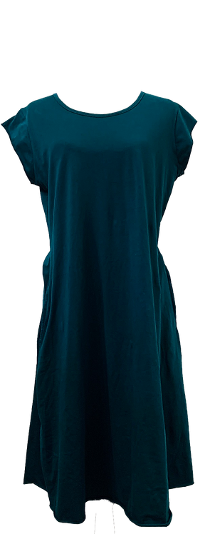 Organic dress with pockets