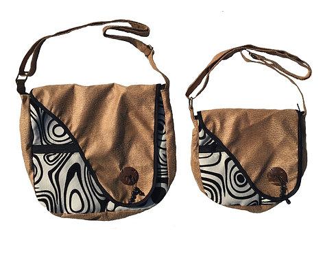 Black & White shoulder bag large