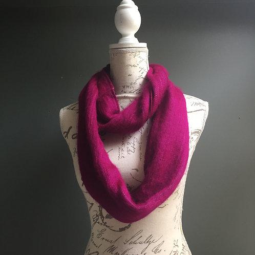 Alpaca scarf loom woven infinity
