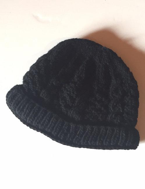Adult wool knit hat/Black