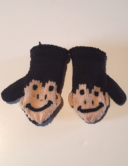 Children mitts medium Monkey