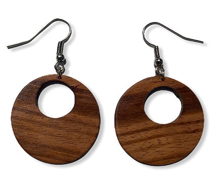 Wood earrings circle
