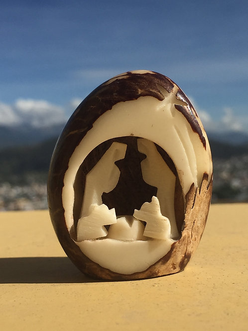 Hand Carved Tagua Nativity