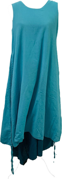 Two layer cotton dress teal