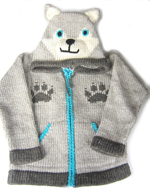 Children Wolf Sweater Lined