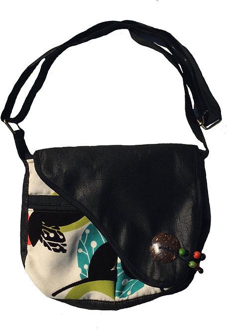 Black & colour shoulder bag large
