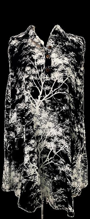 Tree print collar top
