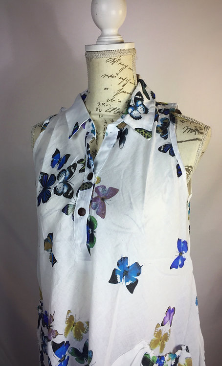 Butterfly top with collar-two sizes