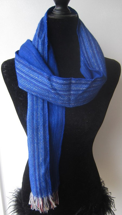 Alpaca scarf loom woven traditional