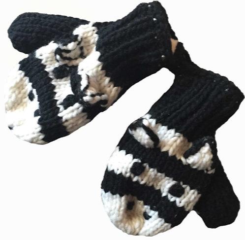 Children mitts medium Zebra