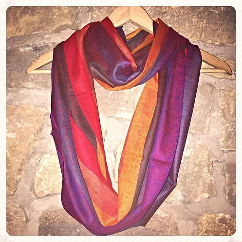 Beach road infinity cotton scarf