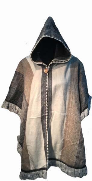 Alpaca poncho/hooded