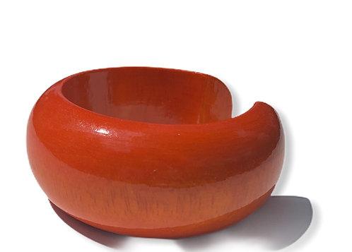 Mango wood bracelet lrg orange