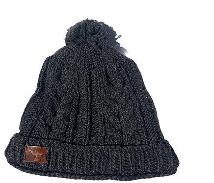 Knit hat-dark brown