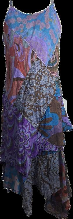 Stone wash dress-purple