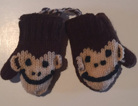 Children mitts small Monkey