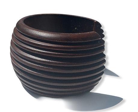 Mango wood bracelet brown